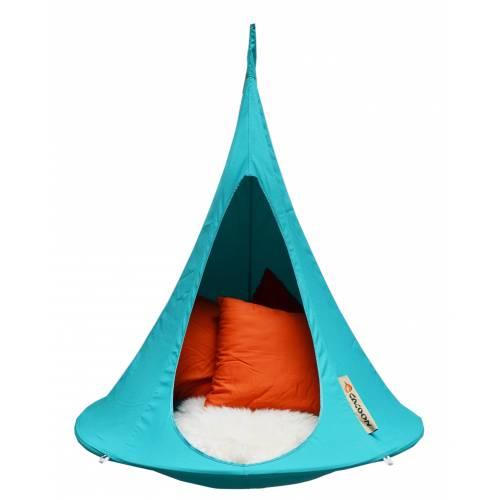 hamac suspendu cacoon enfant turquoise vente hamac. Black Bedroom Furniture Sets. Home Design Ideas