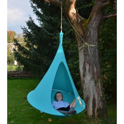 hamac suspendu cacoon enfant turquoise vente hamac suspendu cacoon enfant turquoise. Black Bedroom Furniture Sets. Home Design Ideas