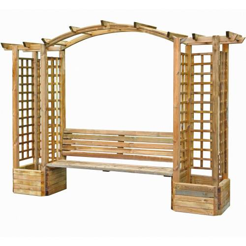 Gazebo En Bois Rond : preview