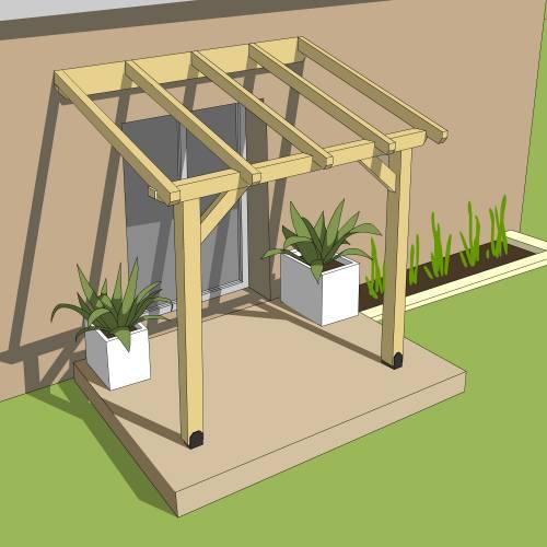 pergola bois adoss e 2 9 x 2 m burger vente pergola. Black Bedroom Furniture Sets. Home Design Ideas