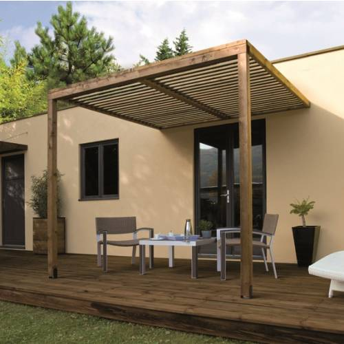 Pergola bois adoss e lumilam burger vente pergola bois for Photo pergola bois
