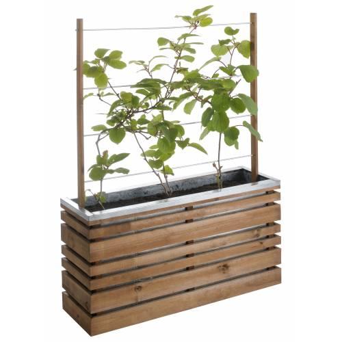 Jardini re bois et m tal avec treillis lign z vente for Achat plantes et arbustes en ligne