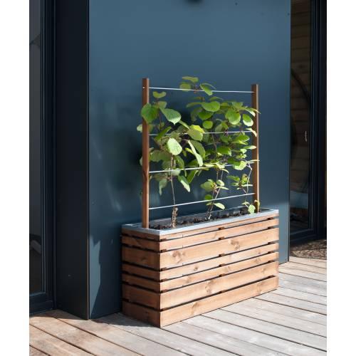 jardini re bois et m tal avec treillis lign z vente. Black Bedroom Furniture Sets. Home Design Ideas