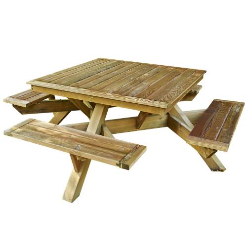 Table de jardin carr e vente table de jardin carr e - Table bois carree ...
