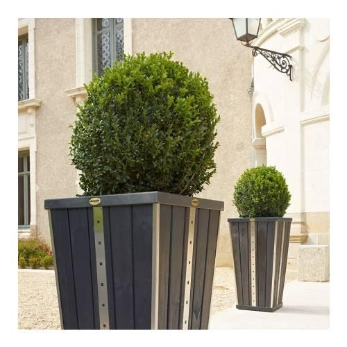 Jardiniere Bois Design : Bois Design – ?vas?e Anthracite : vente Jardini?re Bois Design