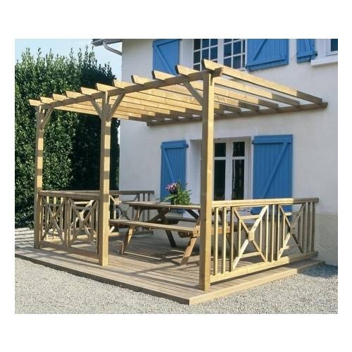 pergola bois adoss e double 6 x 3 m vente pergola bois. Black Bedroom Furniture Sets. Home Design Ideas