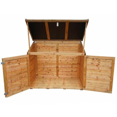 coffre en bois avec toit en r sine 1200 litres vente coffre en bois avec toit en r sine. Black Bedroom Furniture Sets. Home Design Ideas