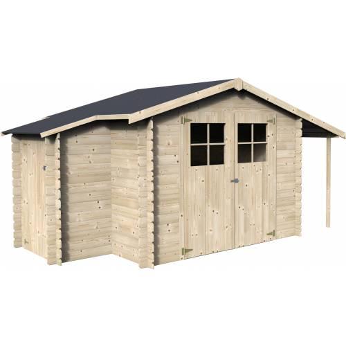 Abri de jardin en bois bois 19 mm 6 16 m2 vente abri for Jardin prix m2