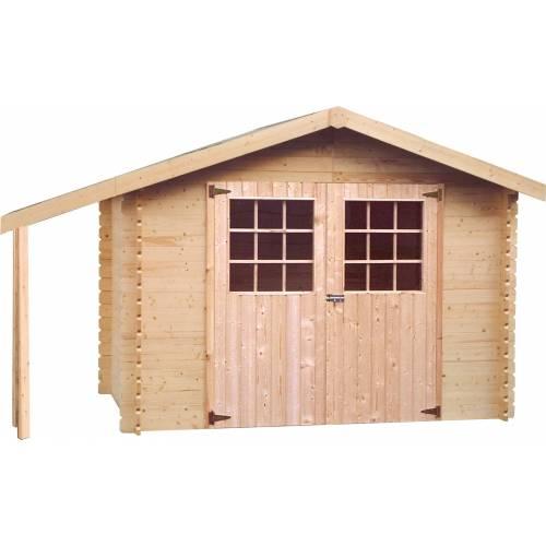 Abri de jardin en bois bois 28 mm 5 9 m2 vente abri for Abri de jardin bois occasion