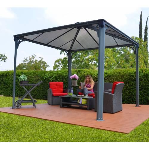 tonnelle en aluminium et polycarbonate 3 6x3 6 m vente. Black Bedroom Furniture Sets. Home Design Ideas
