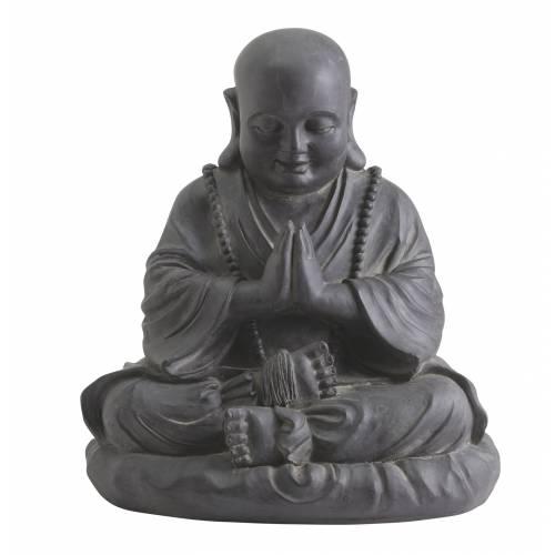 Statue de jardin happy bouddha hauteur 53 cm vente for Bouddha pour jardin