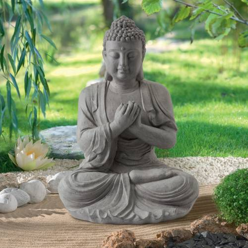 Statue de jardin zen bouddha hauteur 60 cm vente for Budas grandes para jardin