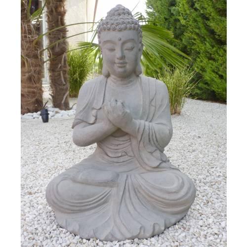 Statue de jardin zen bouddha hauteur 60 cm vente for Achat jardin zen