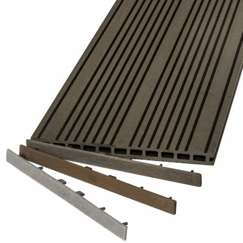 Kit terrasses bois composite xl carr 4 x 4 m vente kit terrasses bois - Kit terrasse composite ...