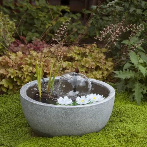 Fontaine de jardin MINI BASSIN Gris - Ubbink : vente Fontaine de ...