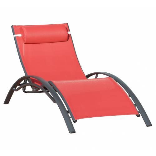 Chaise longue design corail vente chaise longue design - Chaises bain de soleil ...