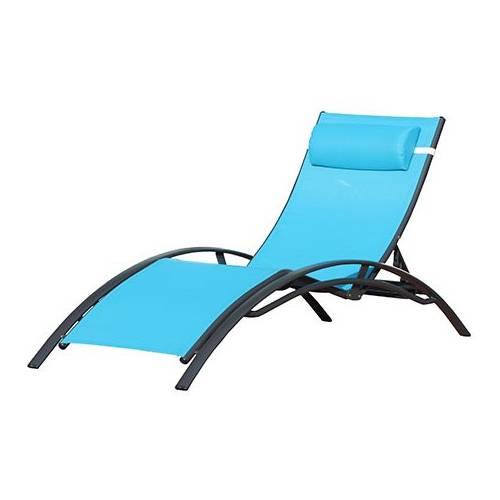 Chaise longue design turquoise vente chaise longue for Prix des chaises longues