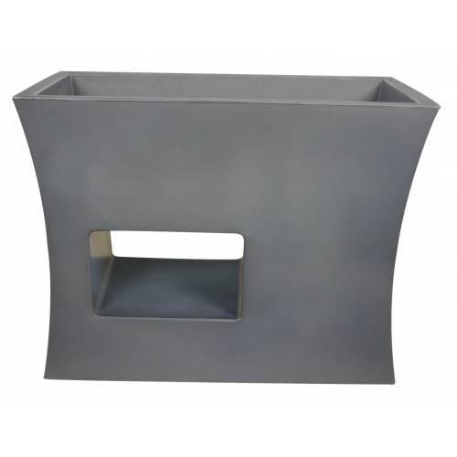 jardini re design 100x45 x h80cm anthracite vente. Black Bedroom Furniture Sets. Home Design Ideas