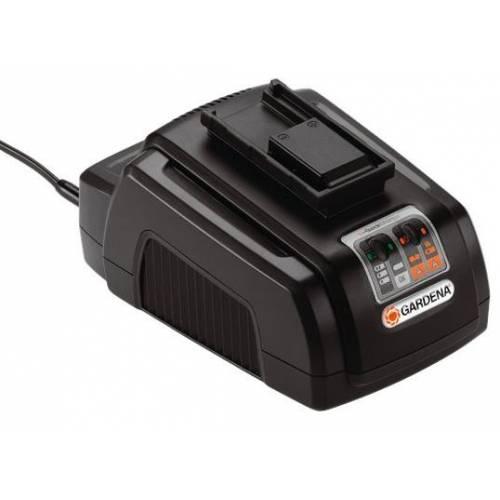 Chargeur rapide de batterie lithium gardena vente for Chargeur gardena coupe bordure