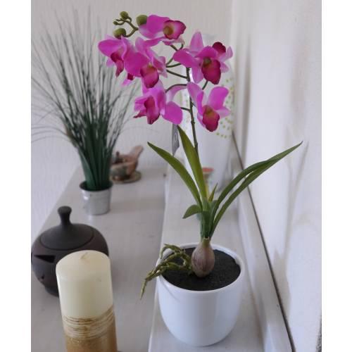 Plante artificielle orchid e bambou violet mica vente for Plantes artificielles bambou