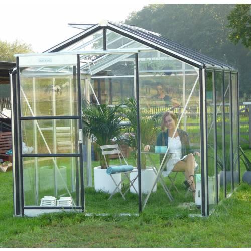 serre de jardin en verre tremp 4mm 7m acd vente serre de jardin en verre tremp 4mm. Black Bedroom Furniture Sets. Home Design Ideas