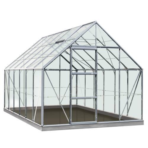 Serre en verre olivier 9 9 m acd vente serre en for Leroy merlin serre jardin