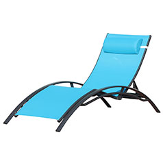 Chaise Longue Design Turquoise