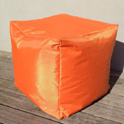 Pouf CUBE – Orange - Sunvibes
