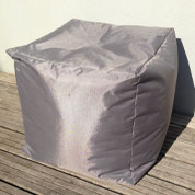 Pouf CUBE – Taupe - Sunvibes
