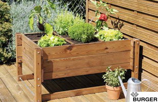Height Adjustable Square Foot Garden - Burger