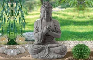 Garden statue Zen Buddha