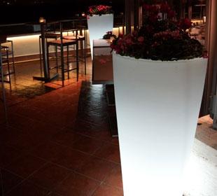 Round Luminous Pot - White