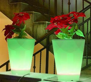 Round Luminous Pot - Multicolor