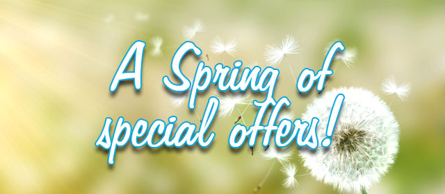 A Spring of special offers!