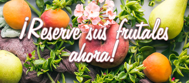 ¡Reserve sus frutales ahora!