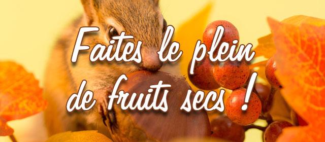 Faites le plein de fruits secs !